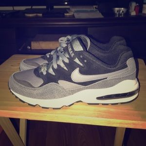 New NIKE Air Max '94 Trainers Black Gray & White